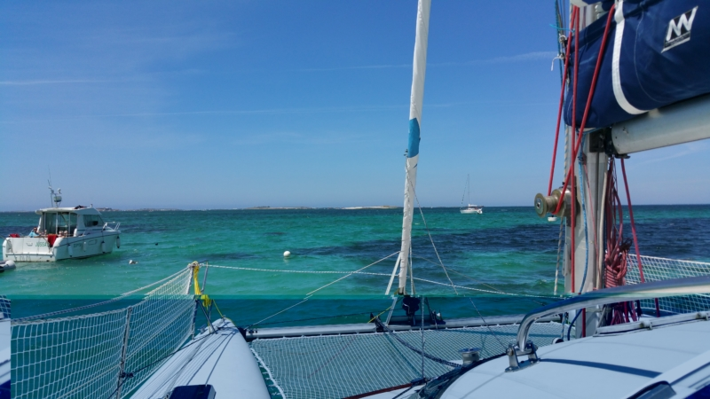 Vue depuis le catamaran