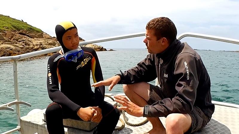 Des plongeurs à Trébeurden
