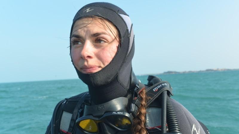 Sabine, notre guide pour la découverte de la plongée à Trébeurden