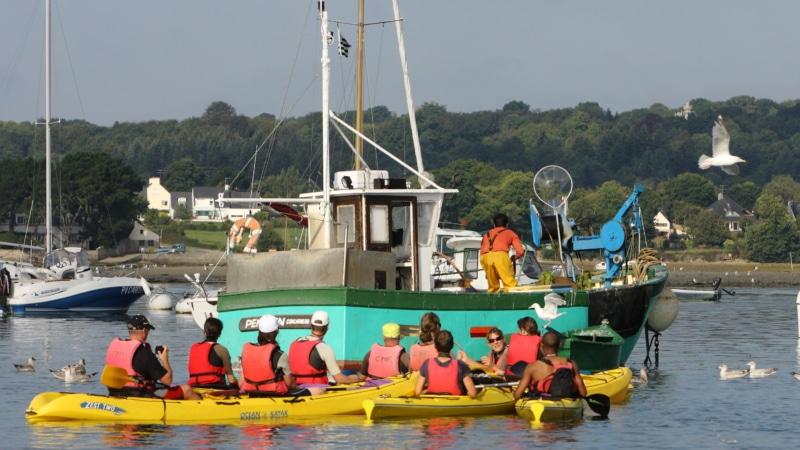 Kayak dans la Baie à Fouesnant-Les Glénan