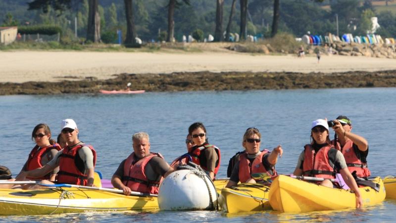 Balade en kayak à Fouesnant Les Glénan avec Lulu