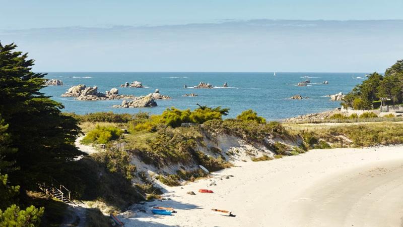 La plage de sable fin de Perharidy à Roscoff