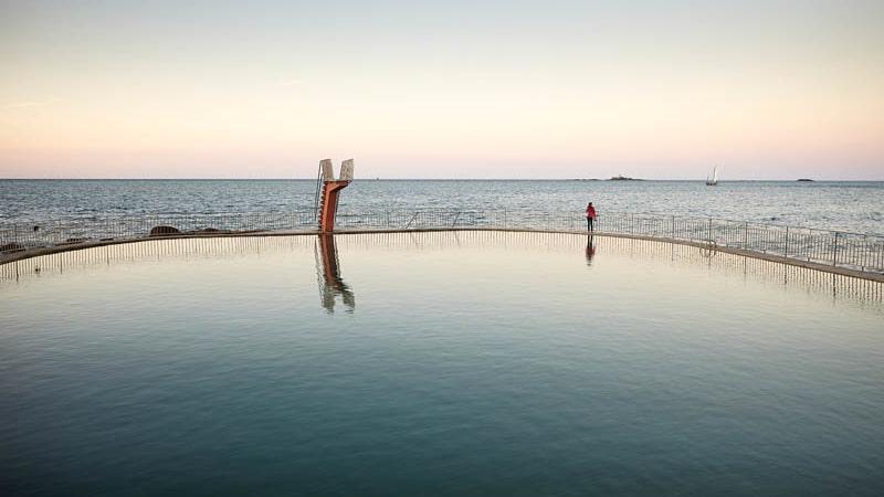 La piscine d''eau de mer à Saint-Quay-Portrieux