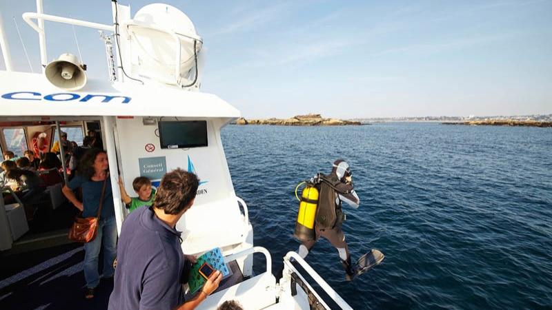 Cap sur les fonds marins à Trébeurden sur la côte de Granit rose