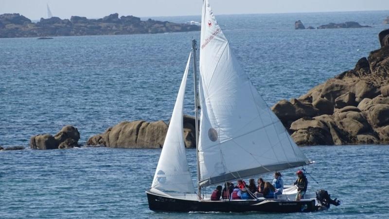 Le voilier de Bag An Holl à Trébeurden