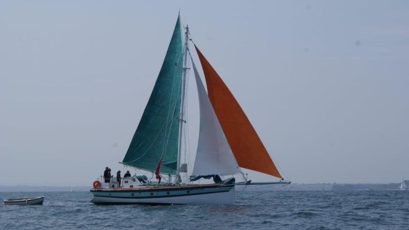 Balade en mer en vieux gréement au large de Roscoff