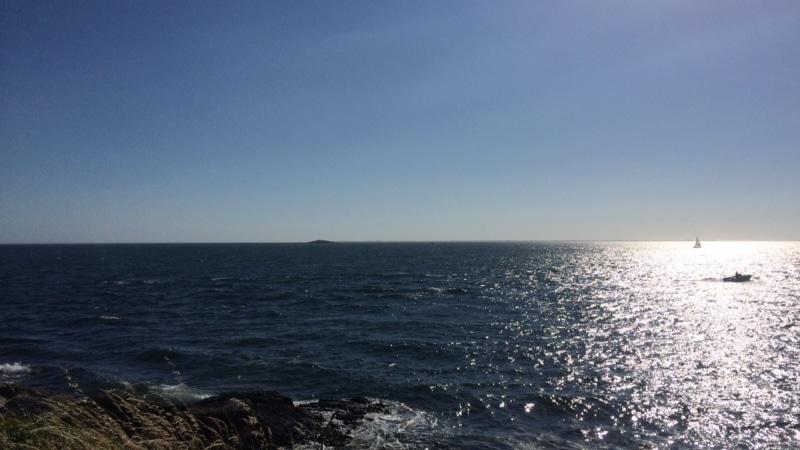 Soleil plein les yeux au large d'Arzon Port Navalo