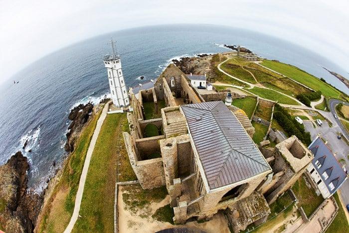 Vue du haut du phare Saint-Mathieu
