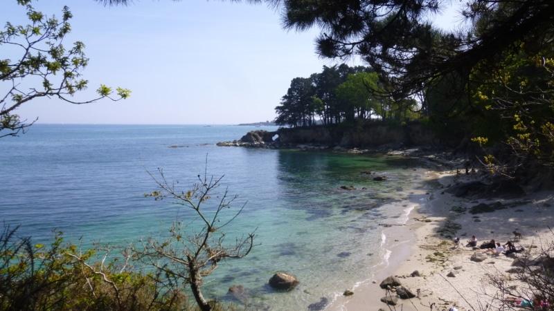 Rando à Fouesnant-les Glénan : eaux turquoise et plage sable blanc