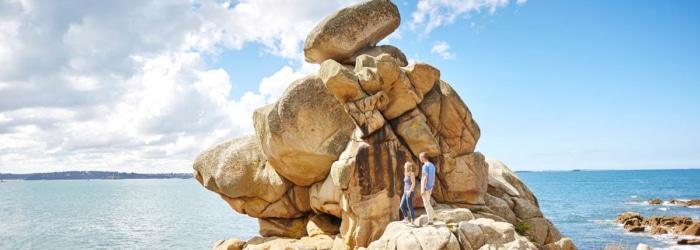 Découvrir les rochers insolites de la Baie de Morlaix