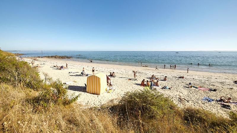 La plage de Légénèse à Carnac