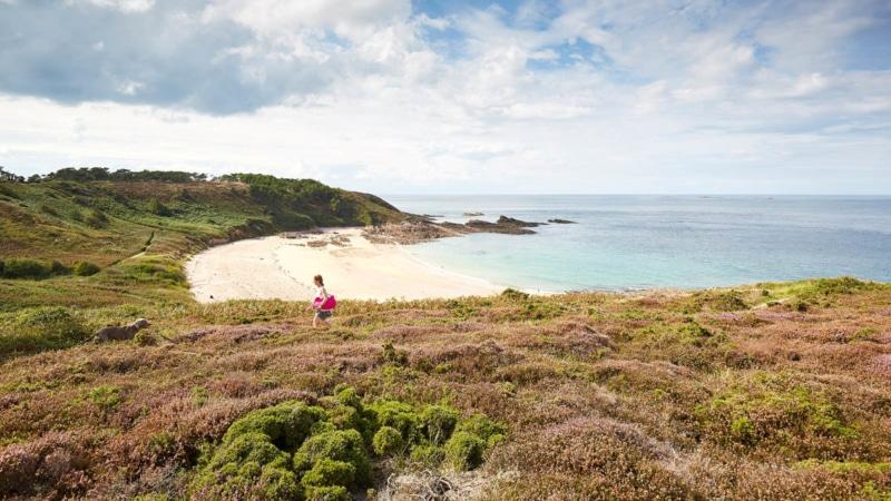 La plage du Portuais à Erquy