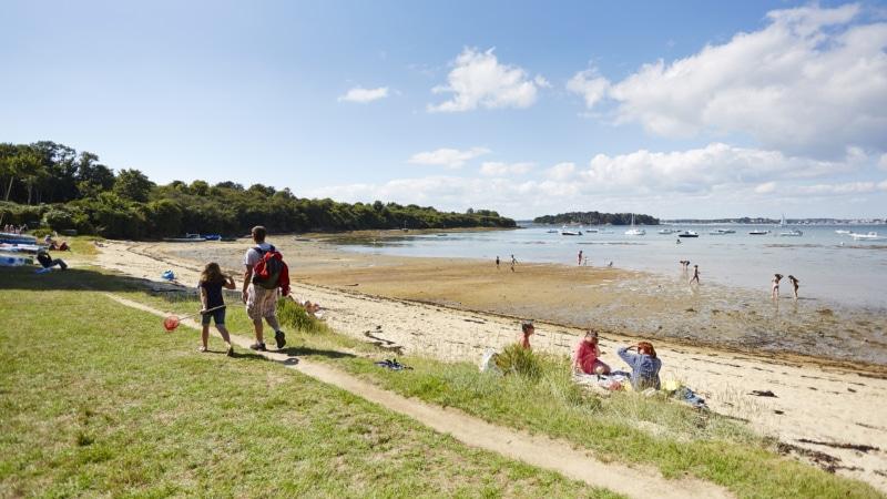 La plage des 3 Fontaines à Arzon - Golfe du Morbihan
