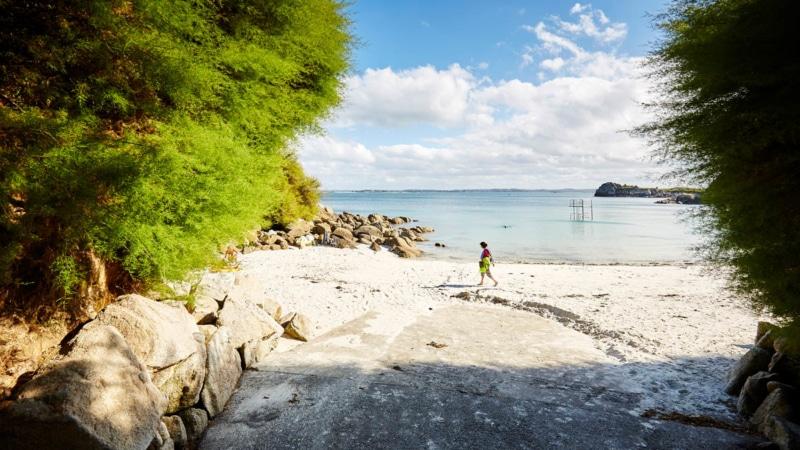 La plage de Traon Erc'h à Roscoff