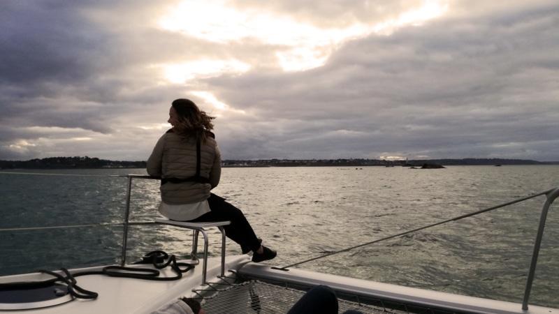 A bord du Catamaran