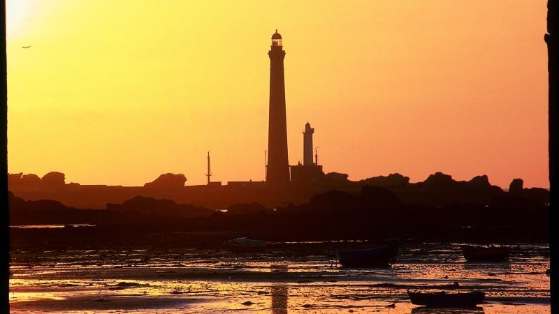 Ile Vierge à Plouguerneau au coucher du soleil