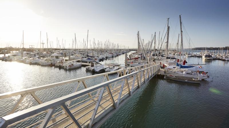 Le port de plaisance à Saint-Cast le Guildo