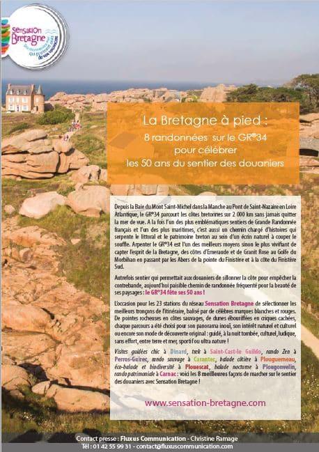 La Bretagne à pied : 8 randonnées sur le GR®34 pour célébrer les 50 ans du sentier des douaniers