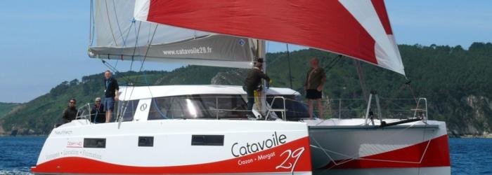 Balade Croisière en catamaran en mer d'Iroise.