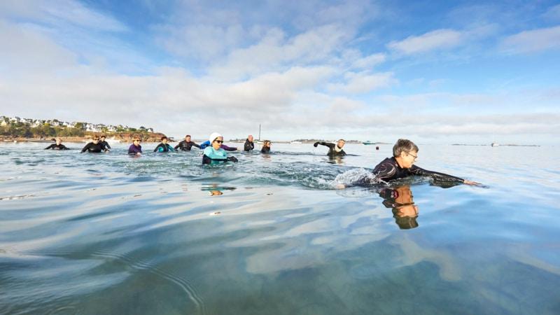 Marche aquatique en baie de Morlaix
