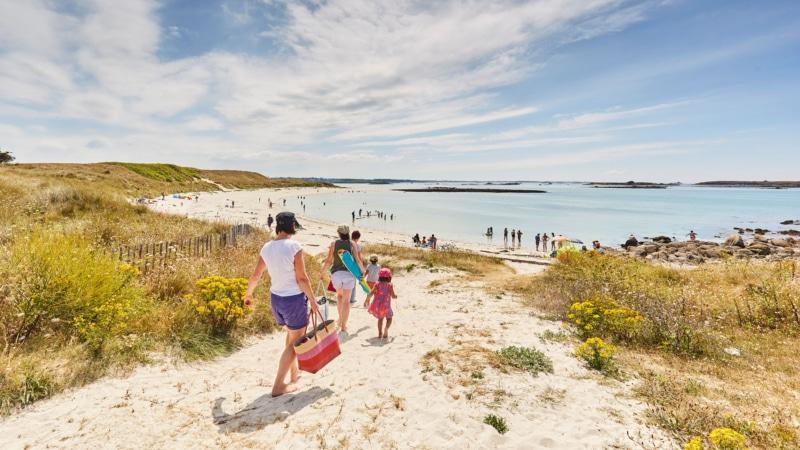 Le bonheur d'aller à la plage à Landéda!