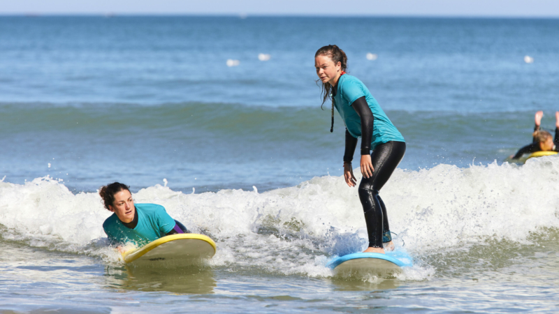 Session de surf à Locquirec