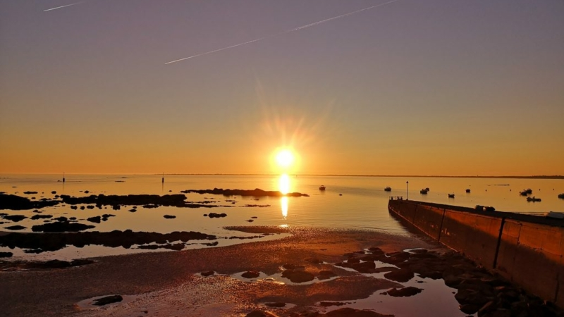 Coucher de soleil à Mousterlin