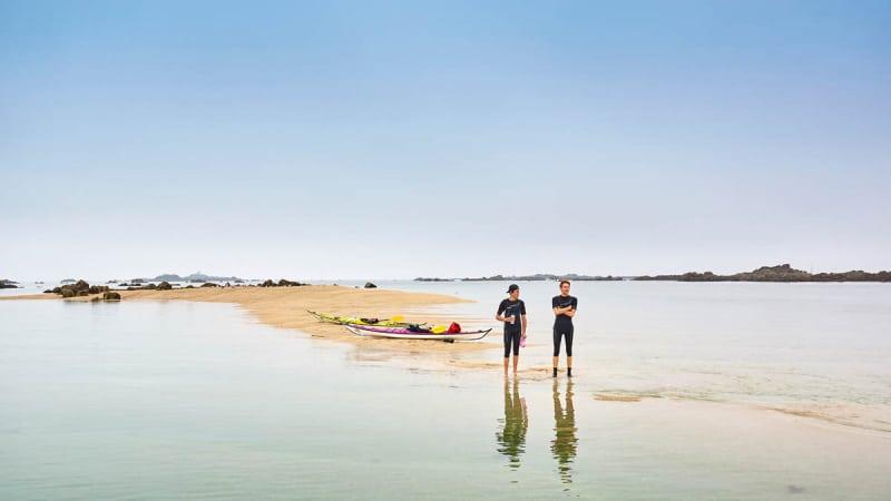 Sortie kayak dans les îles Saint-Quay