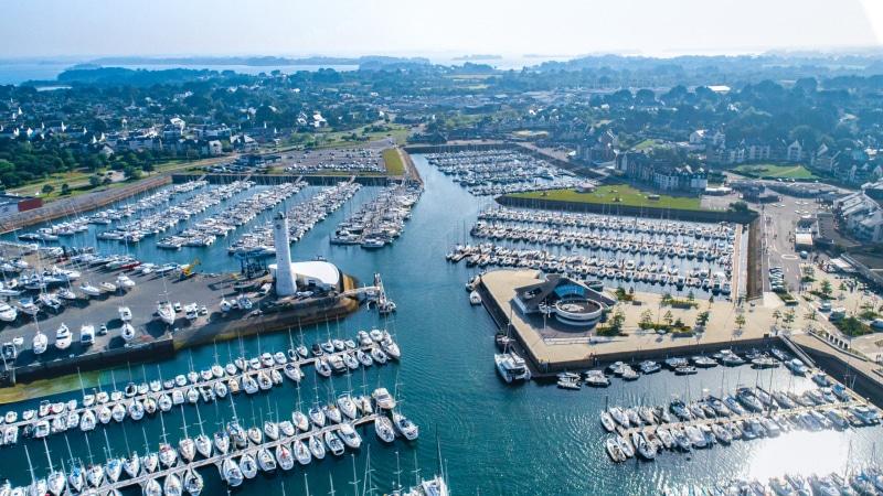 Vue aérienne du Port du Crouesty