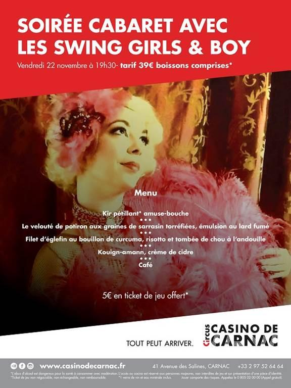 Dîner Spectacle: Avec les Swing girls & boys